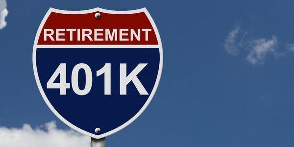 401k road sign blue